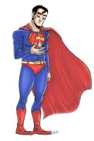 It's a bird, Superman by damnskippy