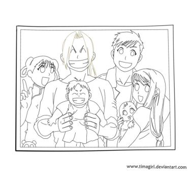 Lineart FMA Family by Timagirl