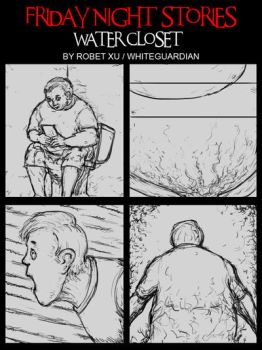 Water Closet Page 1 COMIC by whiteguardian