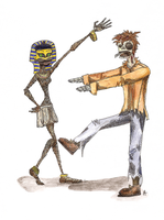 Mummy and deady by The-Creative-Mind