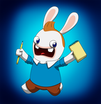 Tintin Rabbid by gabrielcic