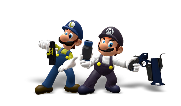 Mario and Luigi They Forgot their Skills. by Soldierino