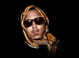 French Montana by futuristicstyle