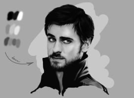 Sketch Killian Jones by DominiqueWesson
