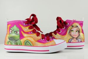 Rapunzel and Pascal Sneakers by mymudra