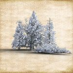Snowy Tree Cluster by Just-A-Little-Knotty