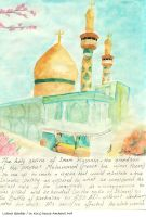 Imam Hussein's Shrine by LubnaQanber