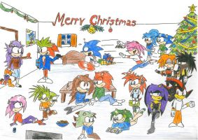 Merry Christmas sonic caracter by udiszabi