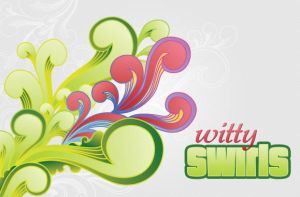 WG Witty Swirls Vector set by wegraphics
