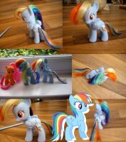Rainbow dash custom pony by Affanita