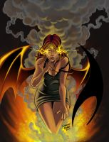 Usha Sketchbook Front Cover ( Succubus ) by RobertDanielRyan