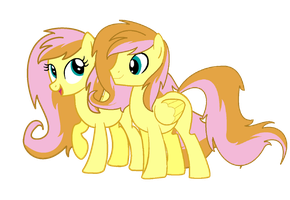 MLP Next Gen Appleshy and Appleseed (twins) by MichellMinor