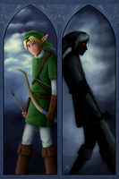 Link and Dark Link by LauraHollingsworth