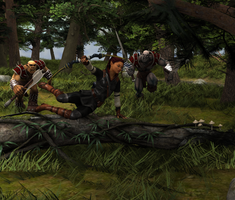 Orcs in pursuit by SammyScuffles