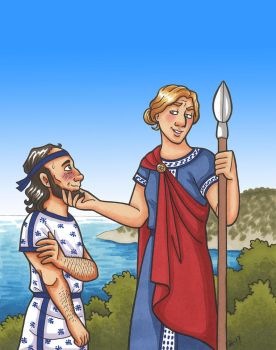 Athena and Odysseus by A-gnosis