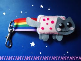 :-Nyan Cat Keyring-: by Arkeresia