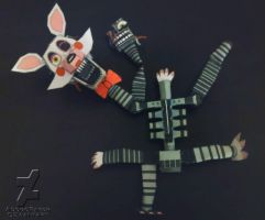 five nights at freddy's 2 Mangle papercraft (idea) by Adogopaper