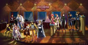 Digimon 14th Anniversary by Dralamy