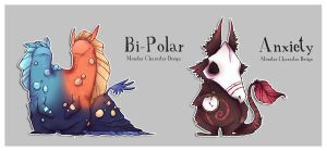 Real Monsters- BiPolar + Anxiety by ZestyDoesThings