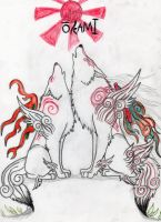 okami shiranui and amaterasu by Suenta-DeathGod