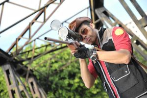 TF2 Sniper cosplay by lockieishere