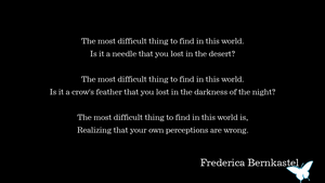 Frederica Bernkastel - The Most Difficult Thing by Tracewyvern