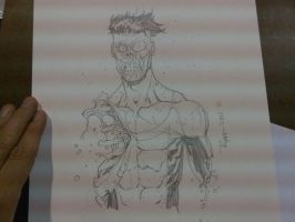 COMICON sketch INV zombie by RyanOttley