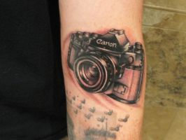 Canon A-1 tattoo by recipeforhaight
