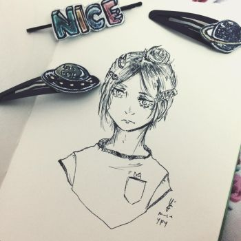 Kenma and hairclips by Ms-Chocolate-Cookie