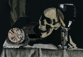 still life of a skull by Heather-The-Hermit