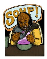 What's Worf eating today? by Lolzards