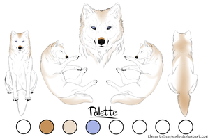 Paypal Commision- Wolf 3- White and Ginger by LadyLirriea