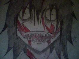 Jeff the killer BLOOD BATH by JazminHopkins