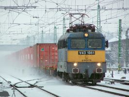 V43 1061 with a freight train in Gyor on 2010 by morpheus880223