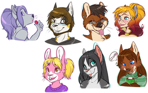 Contest Headshots by strawberryneko33