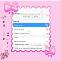 Cursor pink bow by candybubblesweety