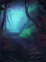Forest path by drawnbydana