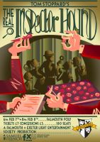 The Real Inspector Hound Theatre Poster by Mimi-Evelyn