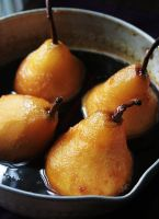 Orange-Caramel Poached Pears by sasQuat-ch