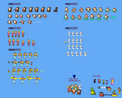 MLSS Kong Family Sprites Sheet. by PxlCobit