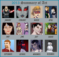 2013 Summary Of Art by Comical1