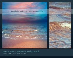 Ocean View Premade Background by kuschelirmel-stock