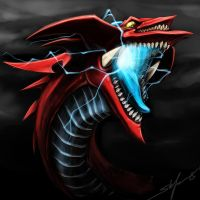 slifer the sky dragon - speedpaint head by slifertheskydragon