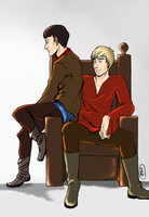 Merlin + Arthur 3 by kneelmortals