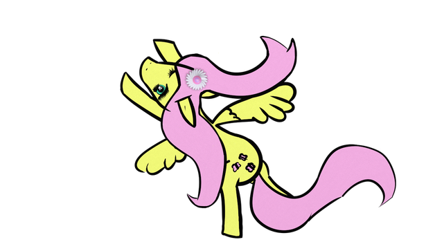 Fluttershy Flying by SymzTew