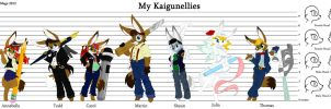 Kaigunelly Reference Sheet -- Featuring My Own by MalimarTheMage