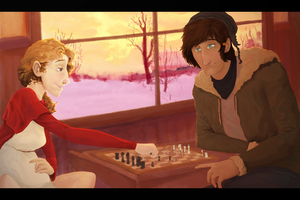 Playing Chess by Howikin