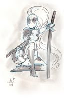 Daily Quick Sketches: Lady Deadpool week5 by mainasha
