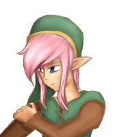 Knight of Hyrule-- Pink hair version by Astralstonekeeper