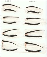 Manga or Anime Eye drawings 2 by Siouxstar